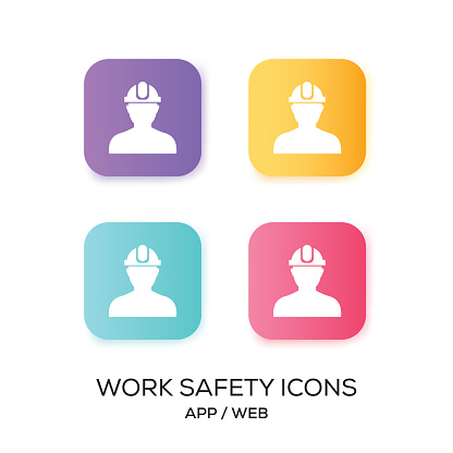 Set of Work Safety App Icon