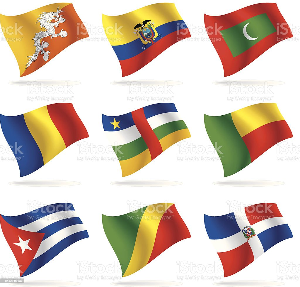 Set of world flags 7 royalty-free set of world flags 7 stock vector art & more images of africa
