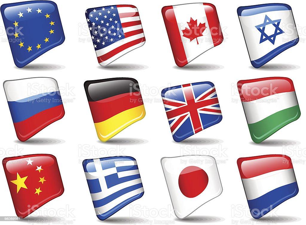 Set di bandiere del mondo. set di bandiere del mondo - immagini vettoriali stock e altre immagini di bandiera royalty-free