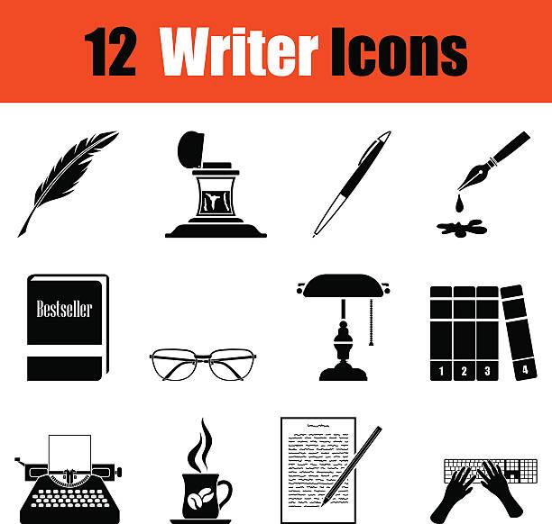 Ensemble d'icônes d'auteur - Illustration vectorielle