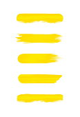 set of yellow stripe painted in watercolor isolated on white background, yellow water color brush strokes set, illustration paint brush soft in concept watercolor paint, colors acrylic water color