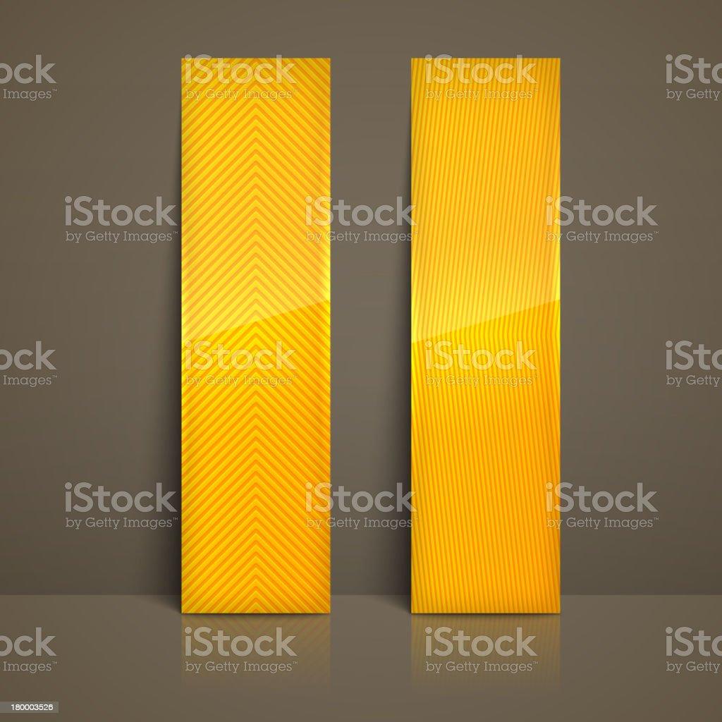 세트마다 노란색 스트라이프드 배너 royalty-free 세트마다 노란색 스트라이프드 배너 0명에 대한 스톡 벡터 아트 및 기타 이미지