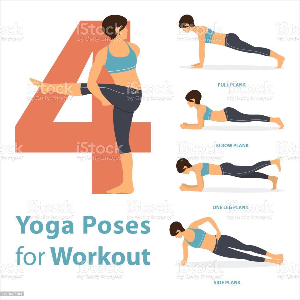 Un Ensemble De Figures Féminines Dyoga Postures De Yoga 4 ...