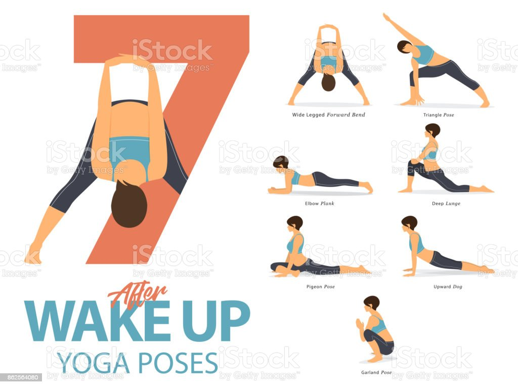 Un Ensemble De Figures Féminines Dyoga Postures De Yoga 7 ...