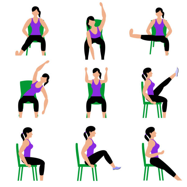 205 Chair Pose Yoga Illustrations Royalty Free Vector Graphics Clip Art