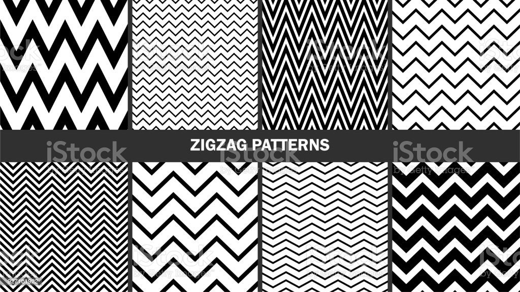 Set of zigzag patterns/ Graphic stylish seamless vector backgrounds/ Classic patterns royalty-free set of zigzag patterns graphic stylish seamless vector backgrounds classic patterns stock illustration - download image now