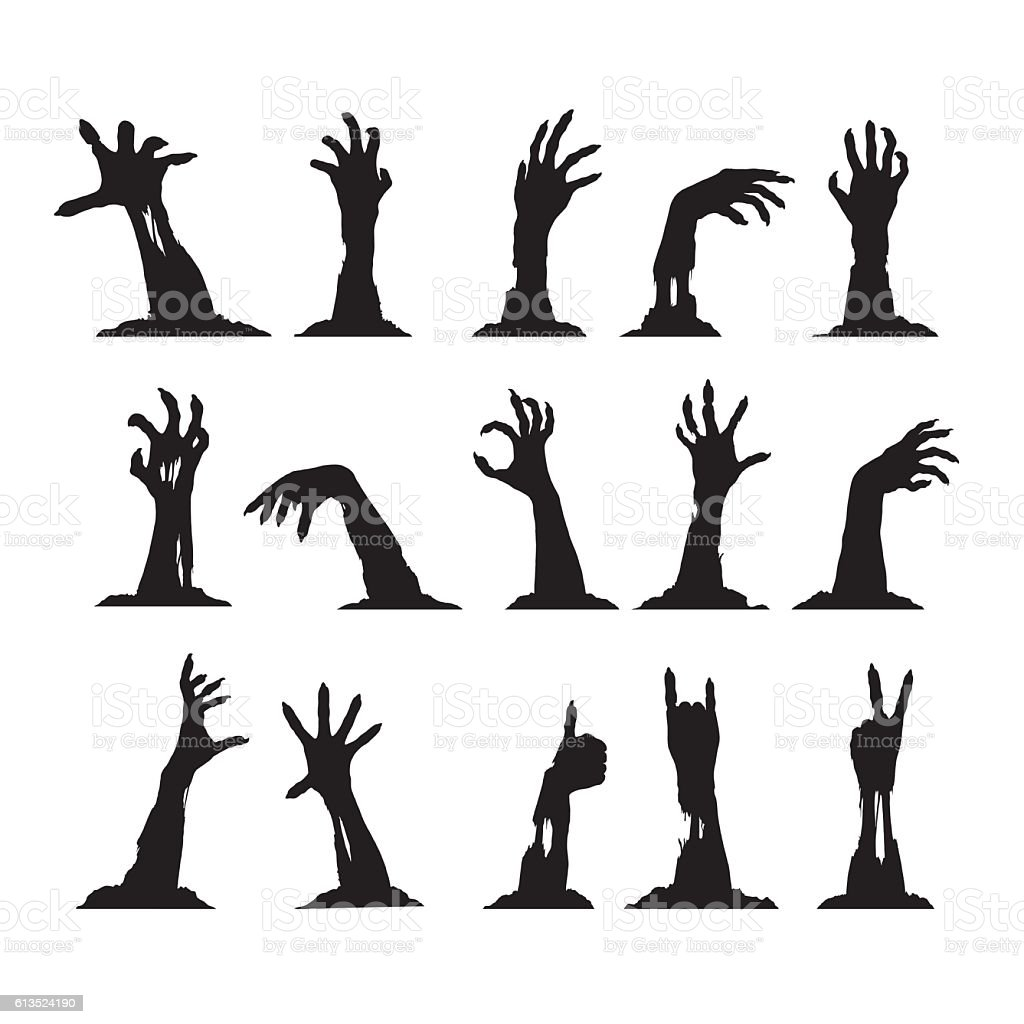 royalty free zombie hand clip art  vector images Zombie Clip Art Black and White Pumpkin Clip Art