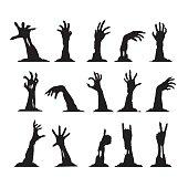 Set of Zombie Hands