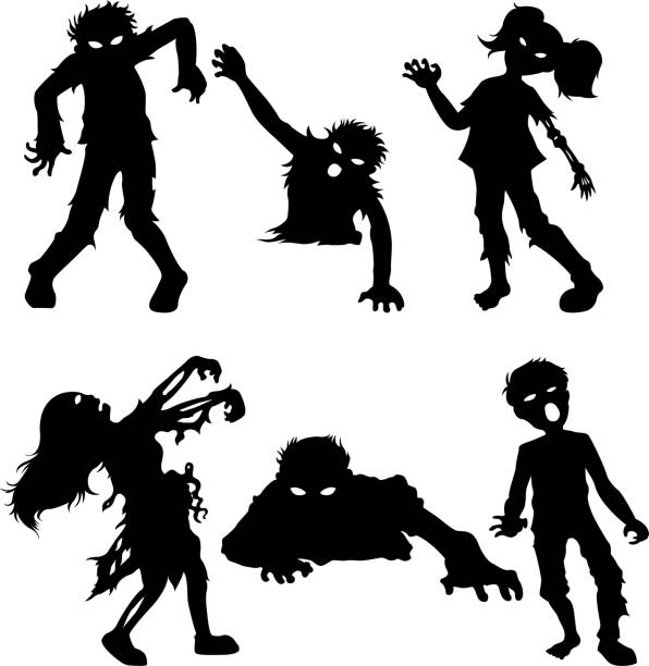 Best Zombie Silhouette Illustrations, Royalty-Free Vector ...
