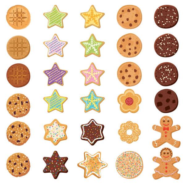 Set Og Homemade Cookies vector art illustration