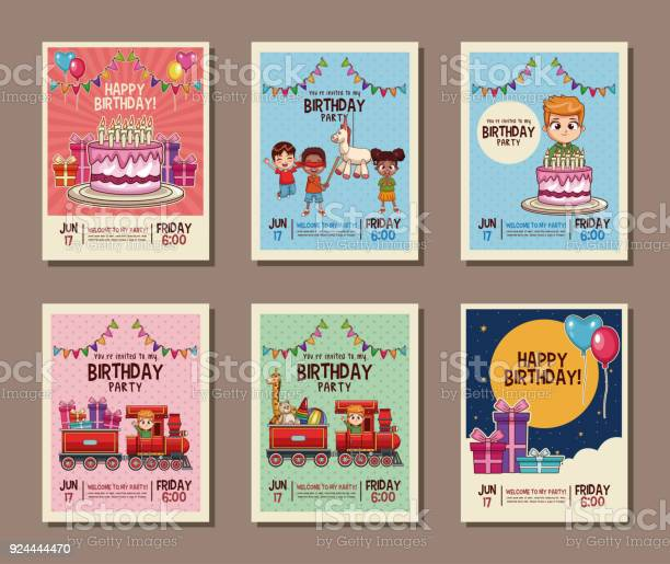 Free Birthday Invitation Vector Art