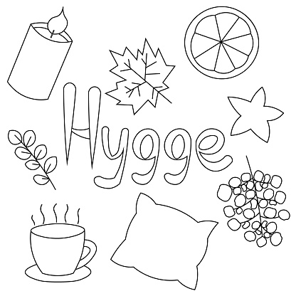 Set on the theme of Hugge in black and white