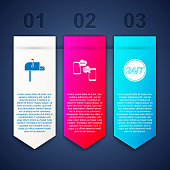 istock Set Open mail box, Chat messages on mobile and Clock 24 hours. Business infographic template. Vector 1317260343