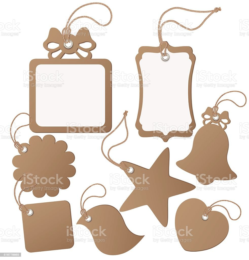 Set ot label (tag) isolated on white. Vector illustration Set ot label (tag) isolated on white. Vector illustration Blank stock vector