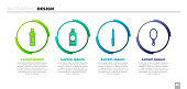 Set Perfume, Bottle of shampoo, Nail file and Hand mirror. Business infographic template. Vector
