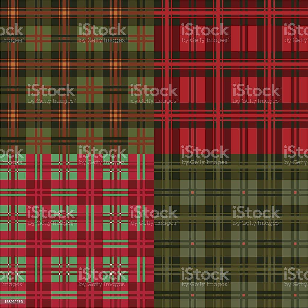 Set plaid patterns, tartan, fabric textile,vector royalty-free stock vector art