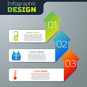 istock Set Please do not disturb, Life jacket and Meteorology thermometer. Business infographic template. Vector 1269628027