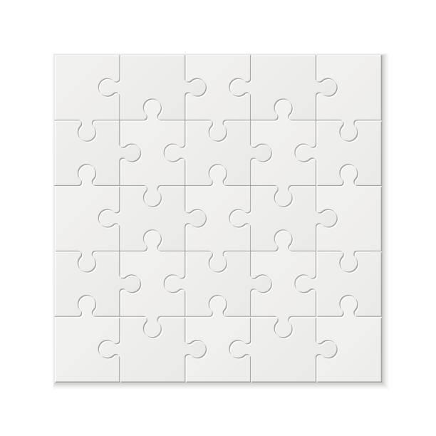 set puzzle-stücke. textur-mosaik-hintergrund. - puzzle stock-grafiken, -clipart, -cartoons und -symbole