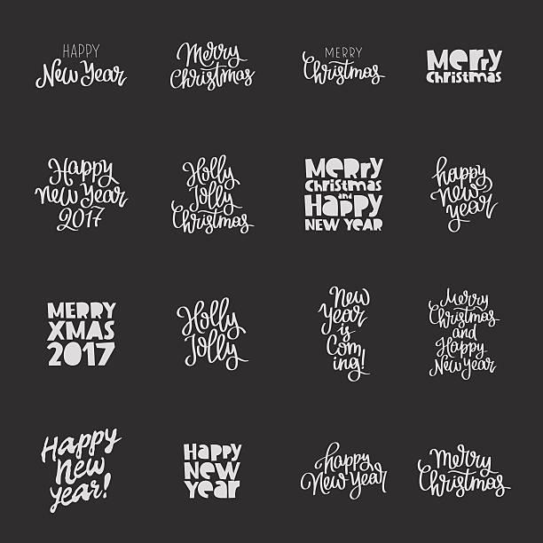 Set quotes about New Year – Vektorgrafik