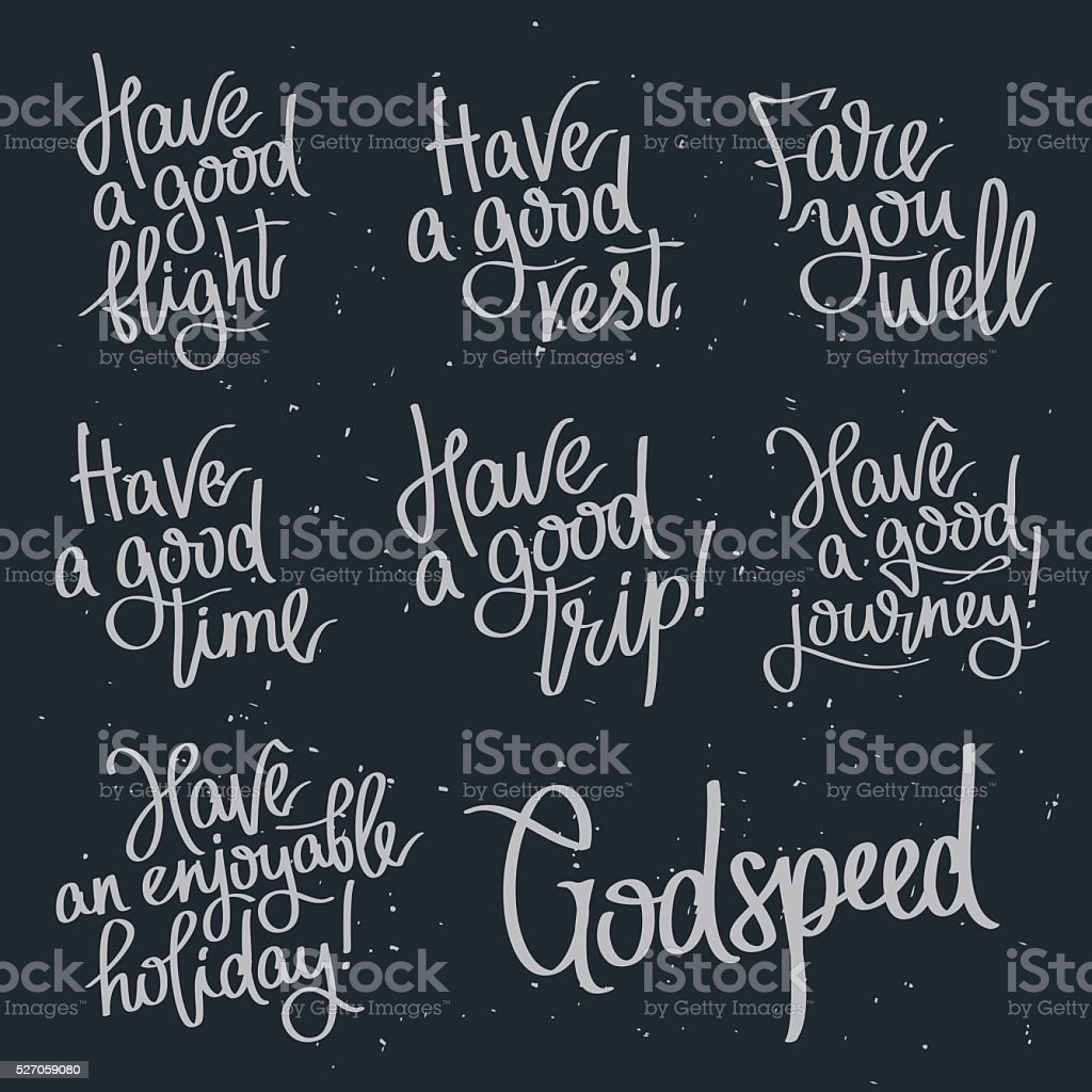 Set quotes about wishing Godspeed. vector art illustration