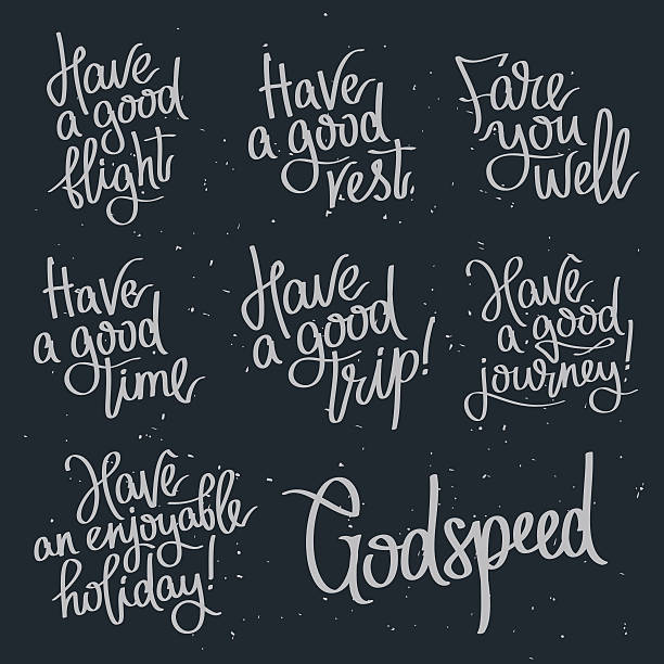 Set quotes about wishing Godspeed. vector art illustration