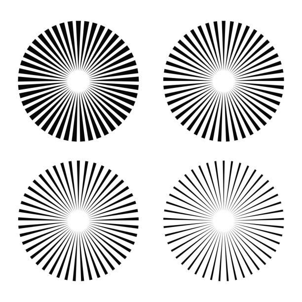 セット光線、ビーム要素 - 魚の骨点のイラスト素材/クリップアート素材/マンガ素材/アイコン素材