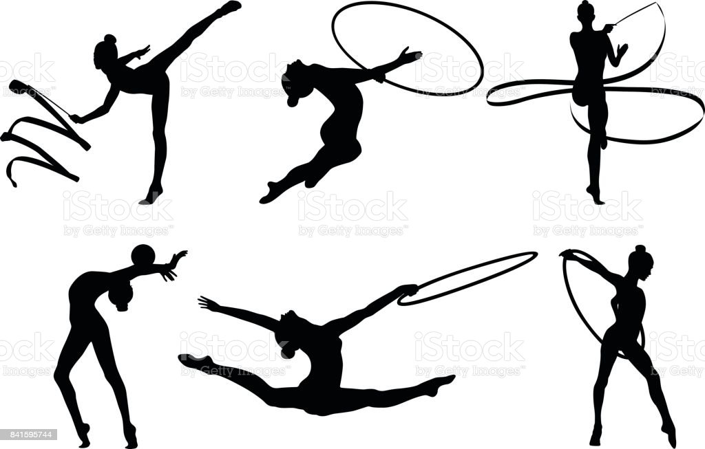 Set de gymnastique rythmique - Illustration vectorielle