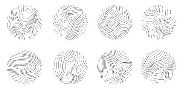 設置地形線圖、圓形地理網格圖的環數 - 大自然 幅插畫檔、美工圖案、卡通及圖標