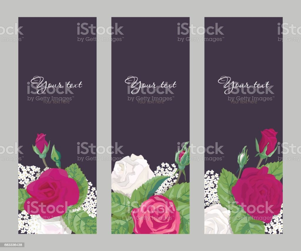 Set romantic vertical banner on dark background royalty-free set romantic vertical banner on dark background stock vector art & more images of adult