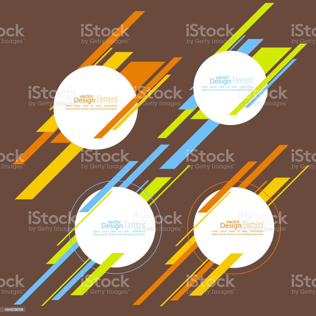 Set round banner vector art illustration