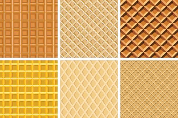 ワッフル質感とシームレスなパターンを設定します。 - ワッフル点のイラスト素材/クリップアート素材/マンガ素材/アイコン素材