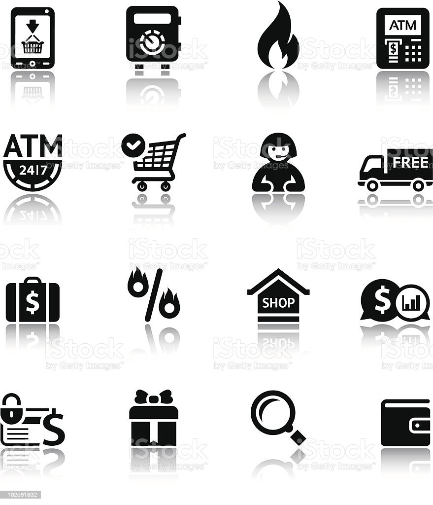 Set shopping icons royalty-free stock vector art