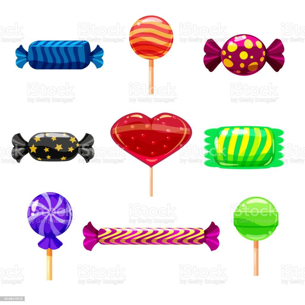 Définir Les Bonbons Seul Dessin Animé Sucette Bonbons