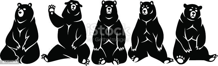 Set sitting bears
