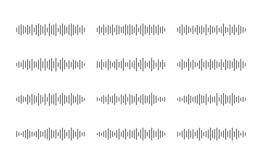 Set sound or audio wave icon. Sound wave for social media and music app. Vector graphic design