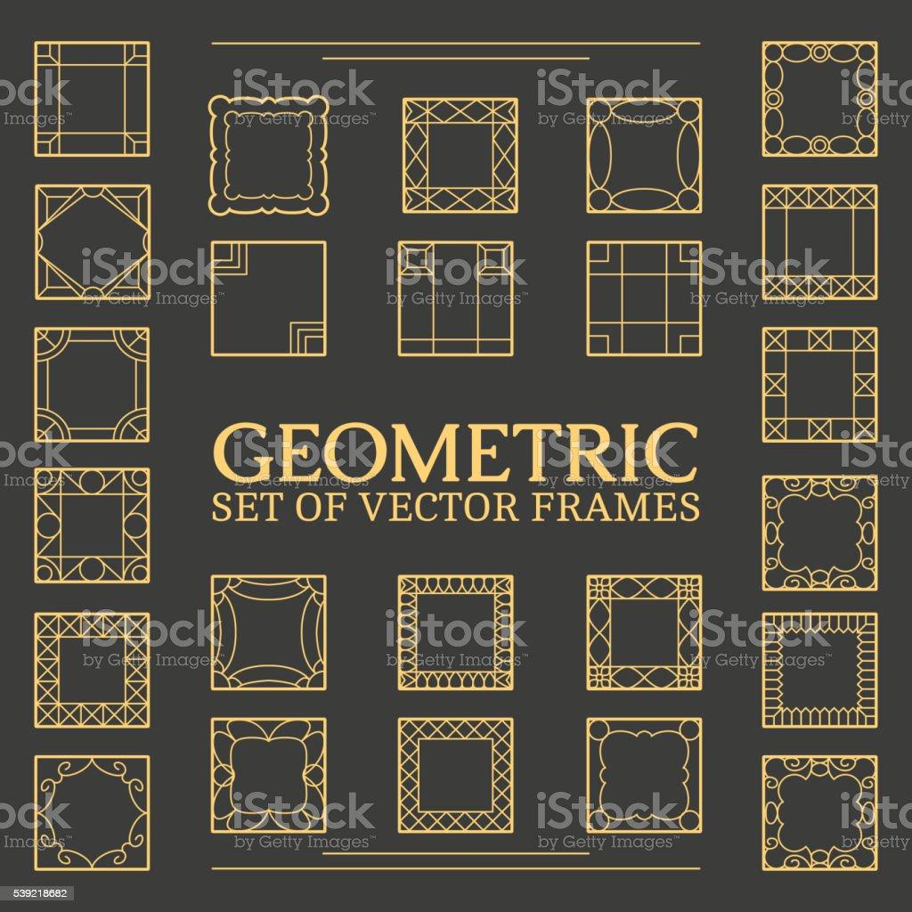 Set square frames vector art illustration
