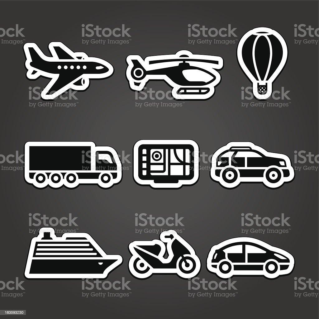 Set stickers transport royalty-free stock vector art