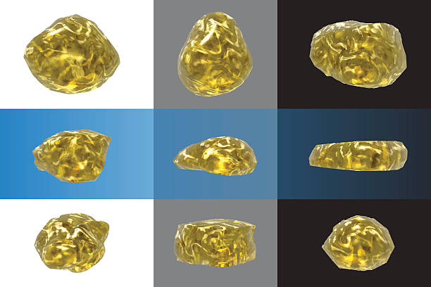 Best Gold Nuggets Illustrations, Royalty-Free Vector