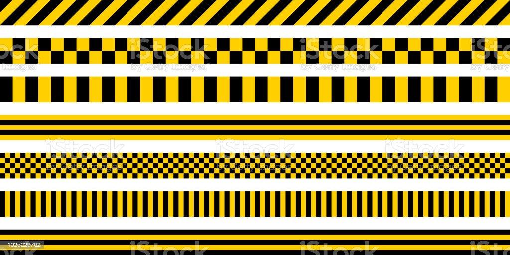 工業用パターン、ベクターの安全性警告ストライプ、黄色の背景に黒の模様で、黄色と黒の色のストライプ セット ロイヤリティフリー工業用パターンベクターの安全性警告ストライプ黄色の背景に黒の模様で黄色と黒の色のストライプ セット - イラストレーションのベクターアート素材や画像を多数ご用意