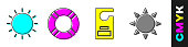 istock Set Sun, Lifebuoy, Please do not disturb and Sun icon. Vector 1272259340