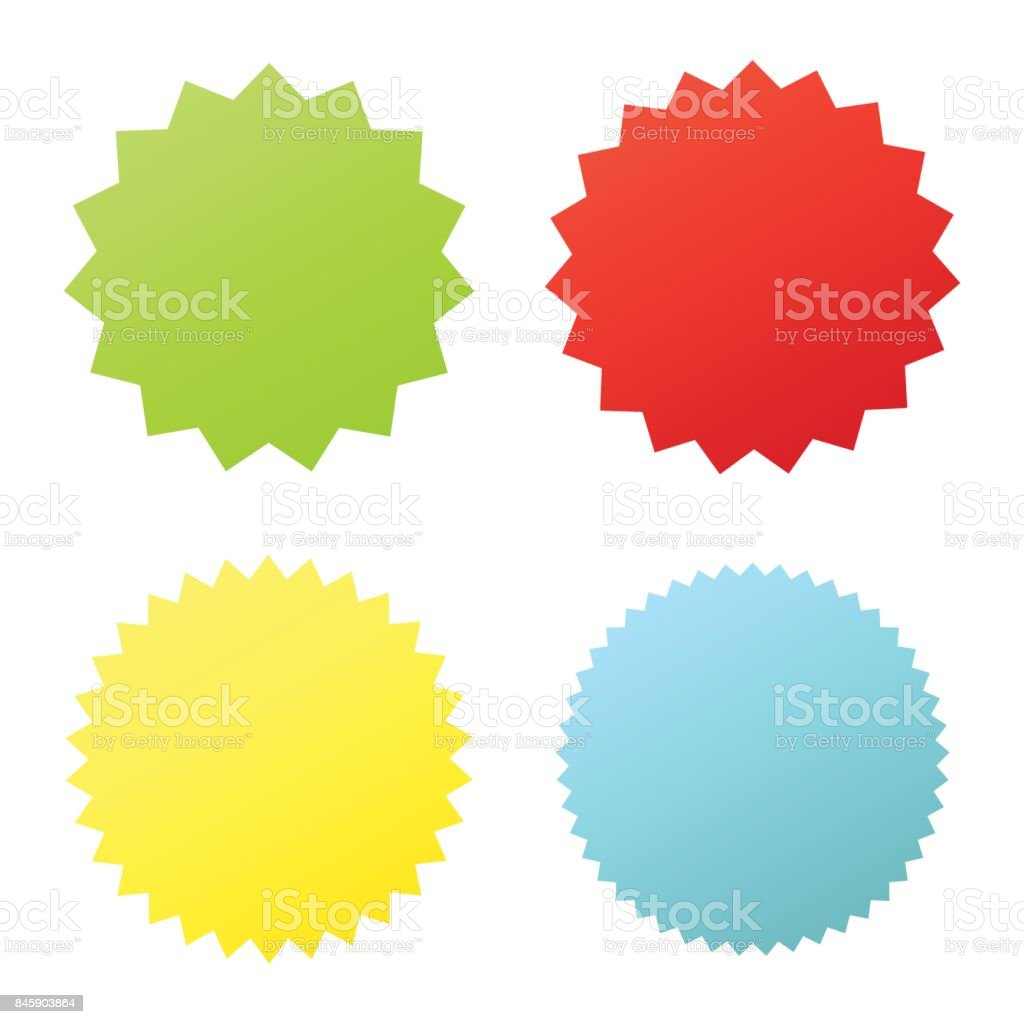 Set sunburst badges. vector art illustration