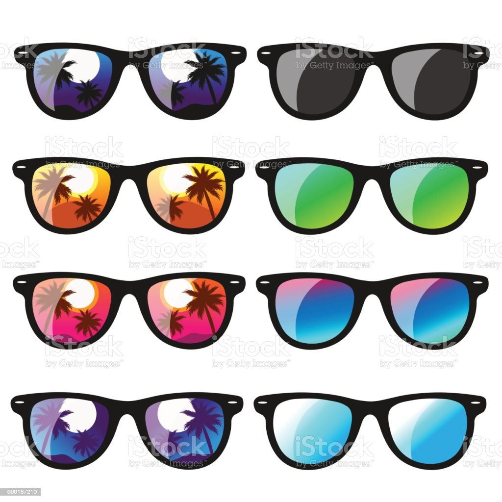 set sunglasses. vector illustration vector art illustration