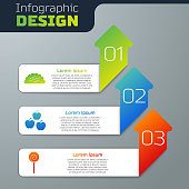 Set Taco with tortilla, Apple and Lollipop. Business infographic template. Vector
