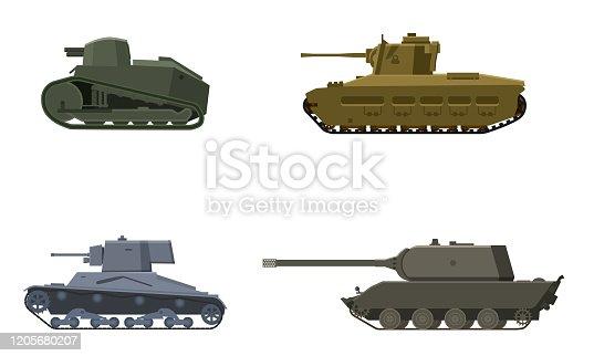 Set Tank American German Britain French World War 2