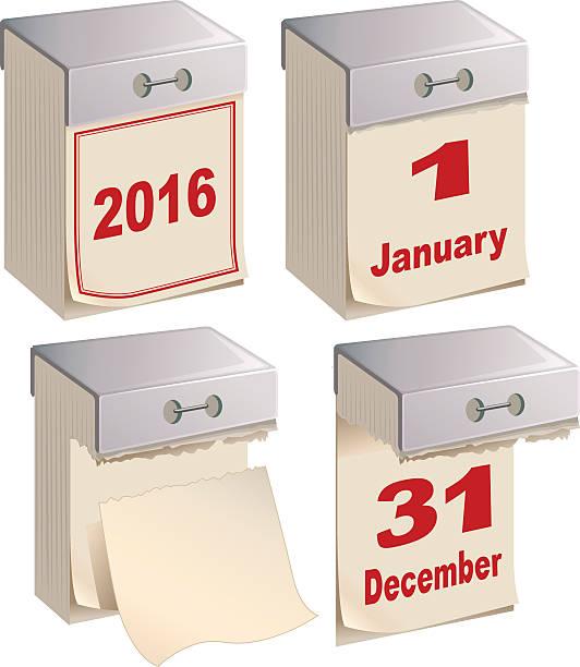 Satz der Kalender Vorlage Abnutzung – Vektorgrafik