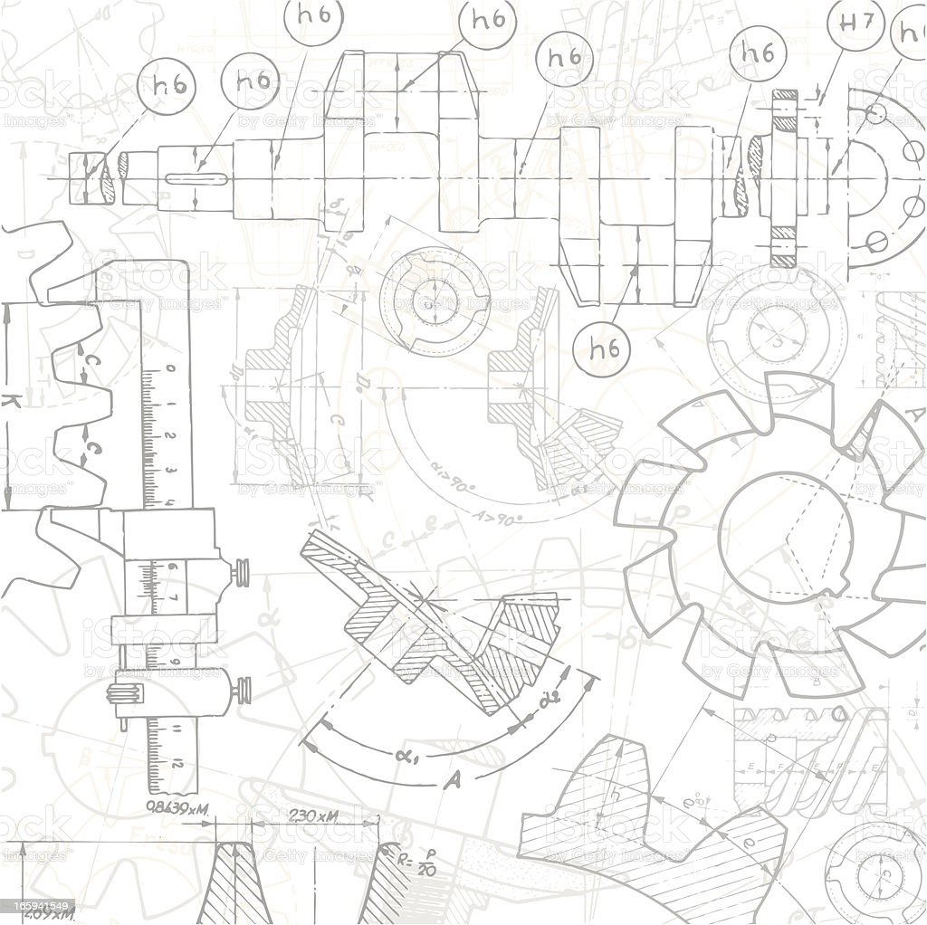 Set Technical Drawings royalty-free set technical drawings stock vector art & more images of abstract