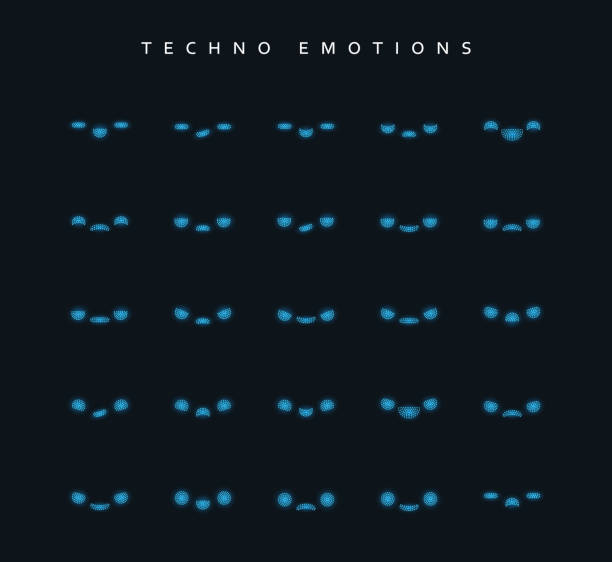 set techno emotions to create characters. - jealous emoji stock illustrations, clip art, cartoons, & icons