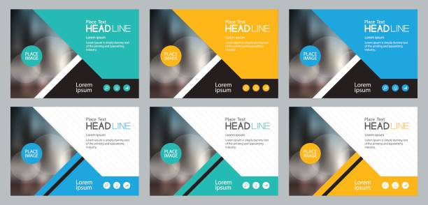 set template design for social media and web banners background, with use in presentation,brochure,book cover layout,flyers - invitations templates stock illustrations