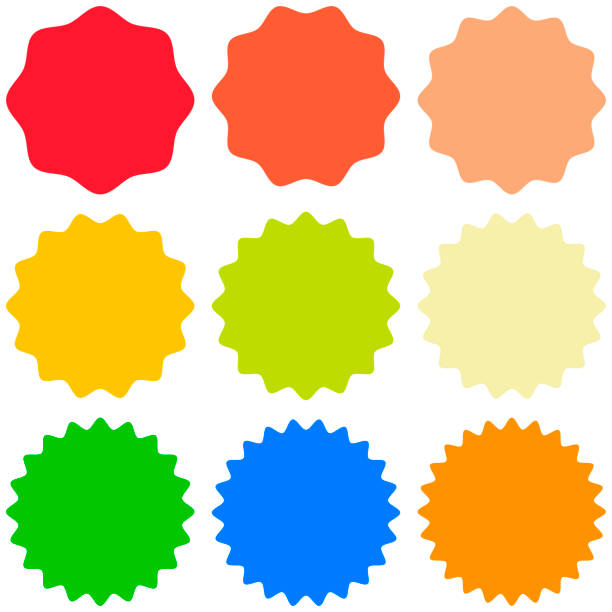 Set template sunburst, shapes badges vector starburst promo  burst, for design sticker promo burst Set template sunburst icons, shapes badges vector starburst promo  burst, for design sticker promo starburst celebrities stock illustrations