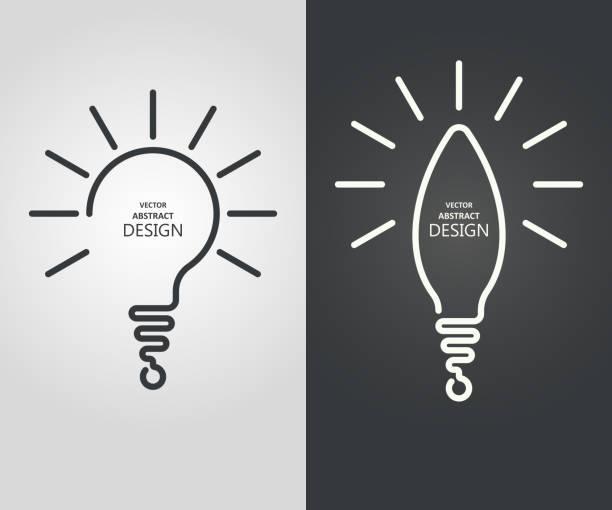 legen sie die stilisierte lampe - durchblick stock-grafiken, -clipart, -cartoons und -symbole